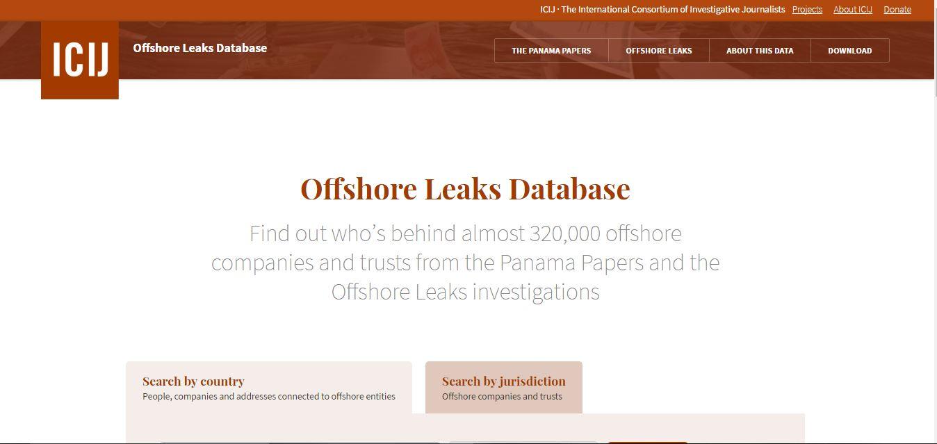 offshore leaks database