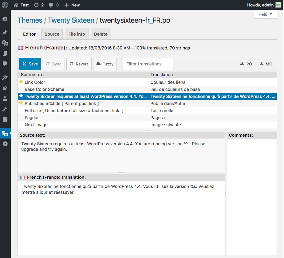Plugin Loco Translate para traducir temas de Wordpress desde la web ...