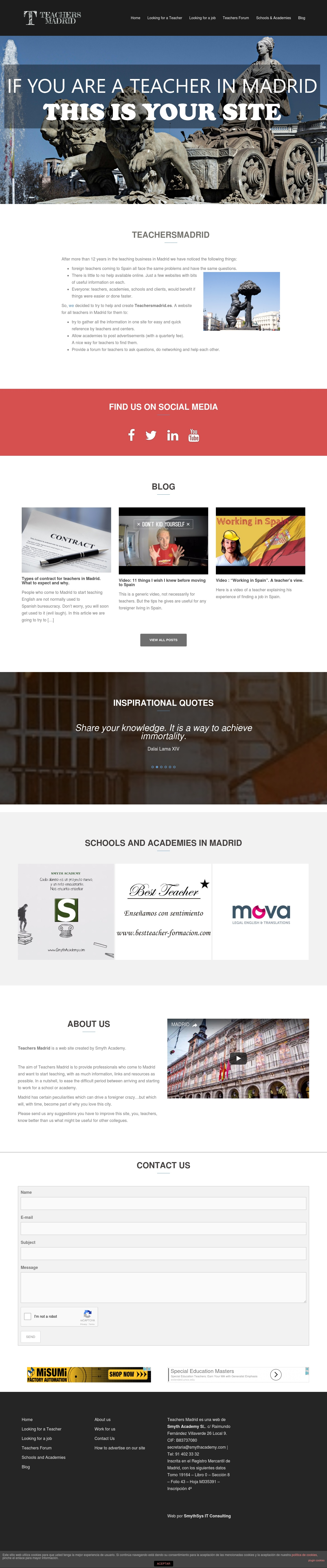 Teachers Madrid